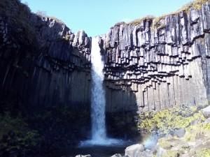 Čedičový vodopád Svartifoss