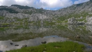 První jezero ze 7, které se před námi objevilo.