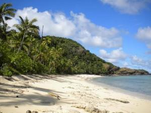 Jedna z pláží na ostrově Manta Ray.