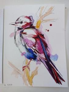 5. lekce Akvarel s perokresbou