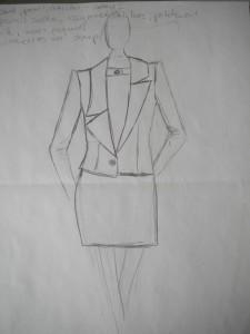 První model kolekce na téma Calvin Klein.
