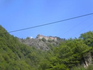 Drákulův hrad v Transylvánii.