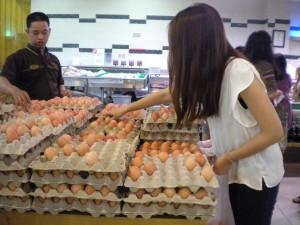 Takhle se nakupují vejce v supermarketech.