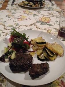Klokaní maso na grilu.