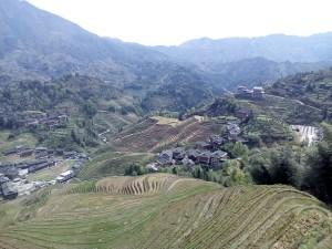 Rýžové terasy před sezónou.