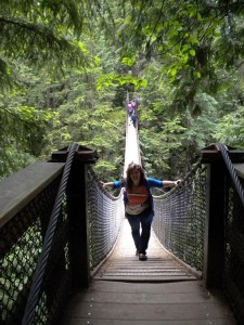 Suspension Bridge na severu Vancouveru