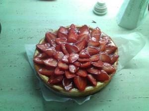 Jahodový dort třívrstvý
