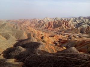 Duhové hory v Zhangye